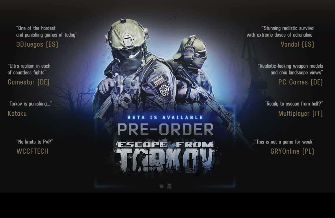 Escape From Tarkov Pre Order